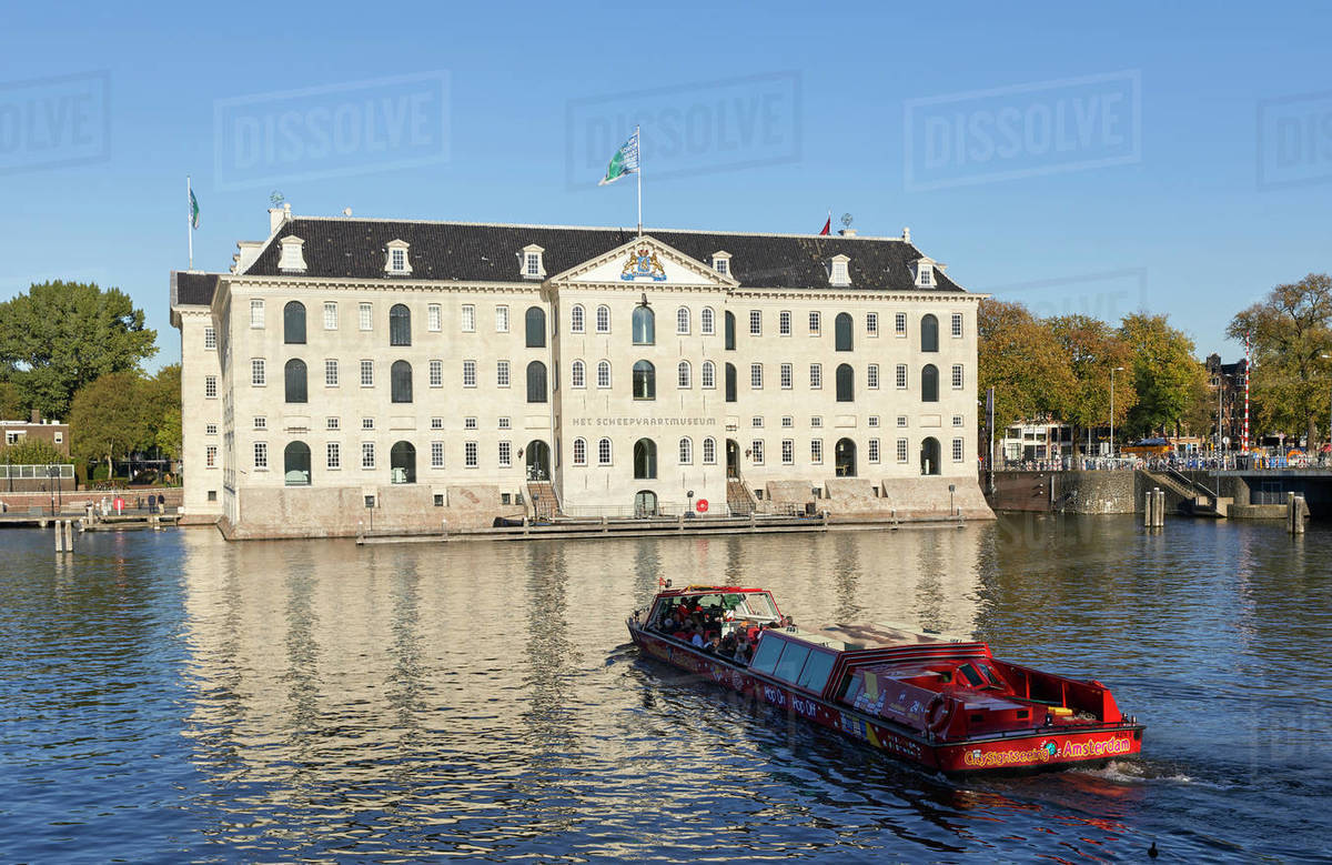 Het Scheepvaartmuseum, the National Maritime museum in Amsterdam, North Holland, The Netherlands, Europe Royalty-free stock photo