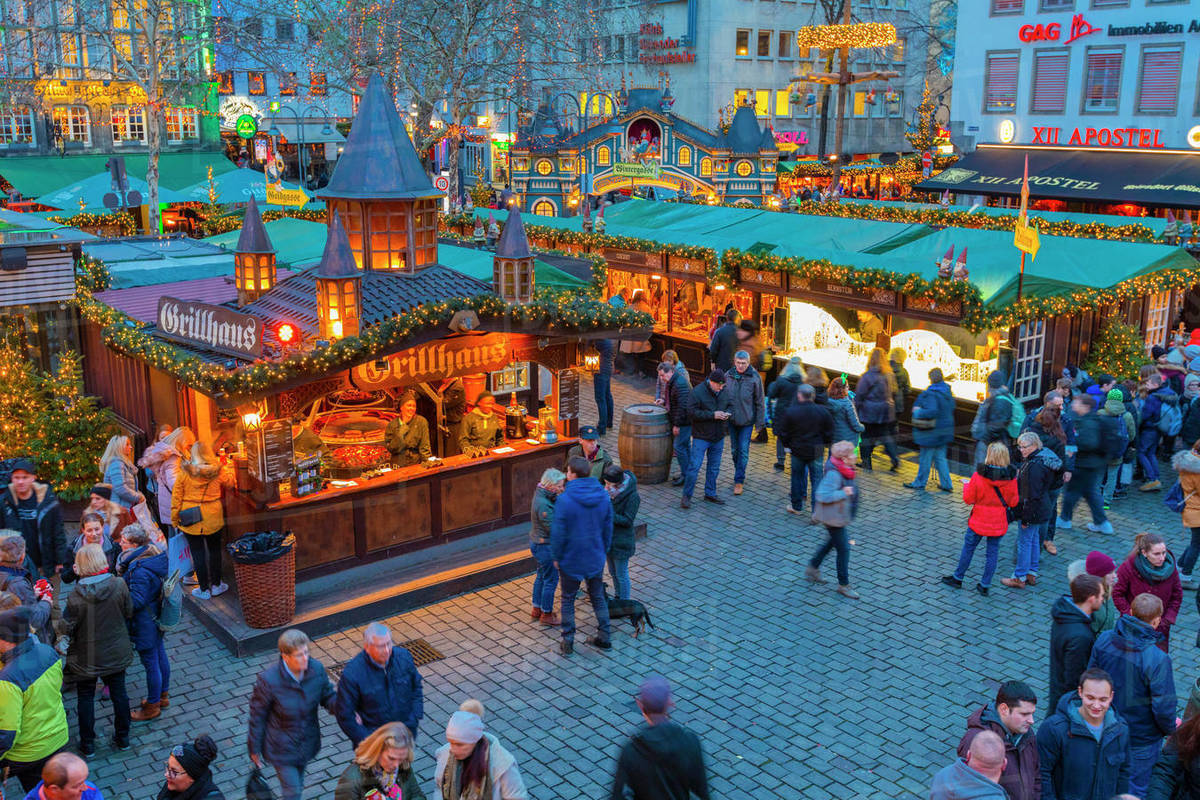 Cologne Christmas Market, Cologne, North Rhine-Westphalia, Germany, Europe Royalty-free stock photo