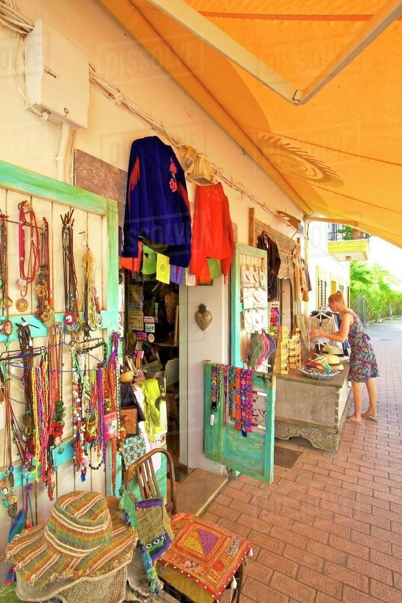 Hippy Shop, Santa Gertrudis de Fruitera, Ibiza, Balearic Islands, Spain, Europe Royalty-free stock photo