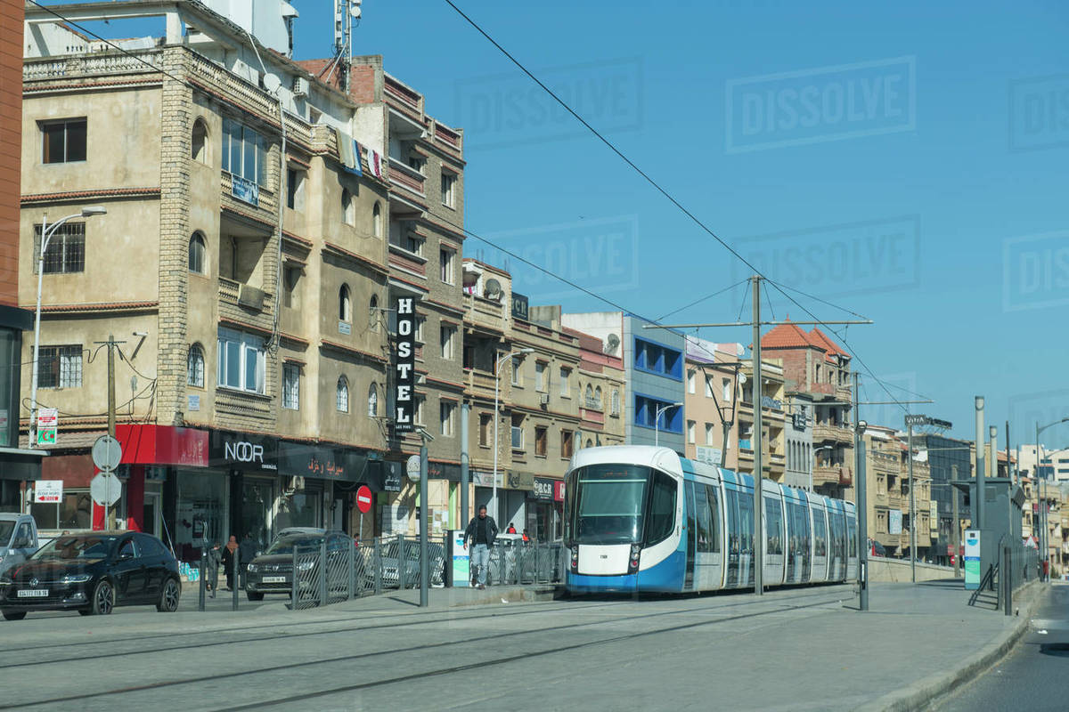 Modern tram in Algiers, Algeria, North Africa, Africa Royalty-free stock photo