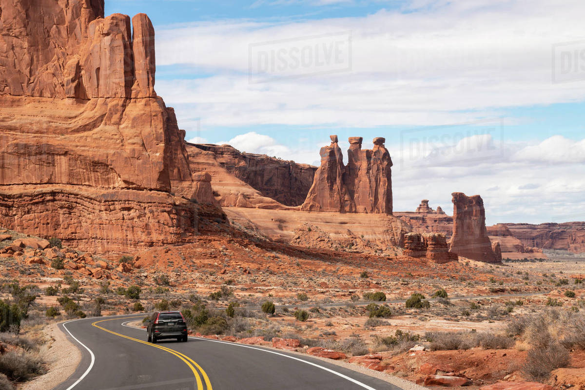 Park Avenue, Arches National Park, Moab, Utah, United States of America, North America Royalty-free stock photo