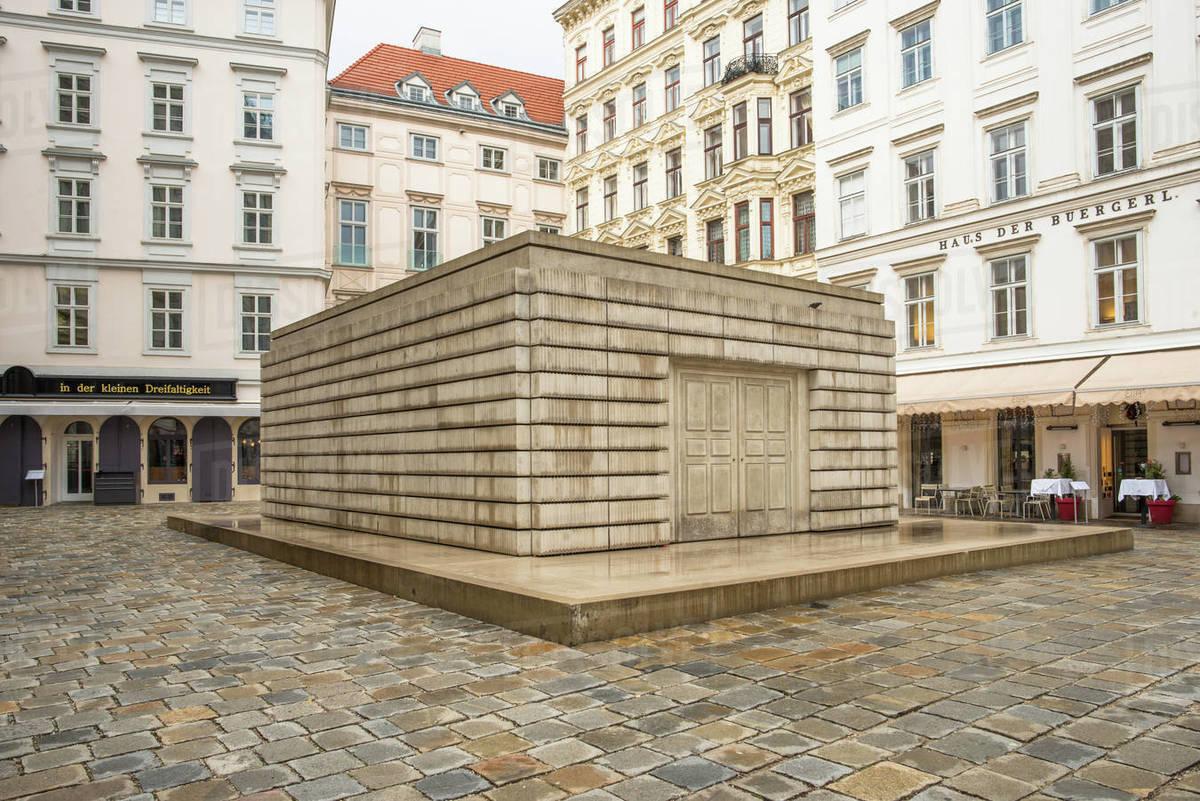 Judenplatz Holocaust Memorial (The Nameless Library), in the Judenplatz square, Vienna, Austria, Europe Royalty-free stock photo