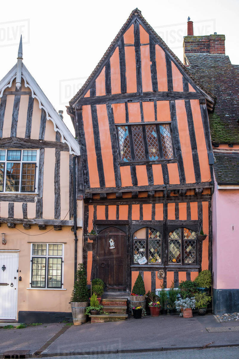 The Crooked House Gallery in the village of Lavenham in Suffolk, England, United Kingdom, Europe Royalty-free stock photo