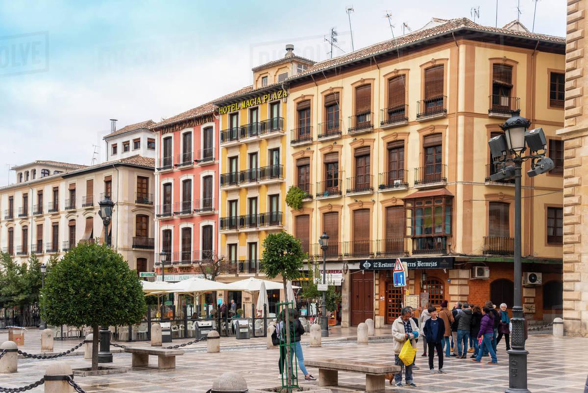 Plaza de Santa Ana, Granada, Andalucia, Spain, Europe Royalty-free stock photo