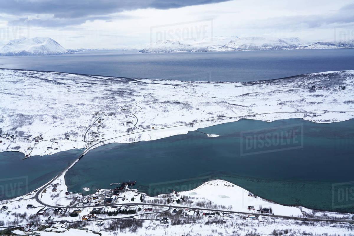 Lyngen Alps, Nordlenangen, Lyngen peninsula, Troms County, Norway, Scandinavia, Europe Royalty-free stock photo