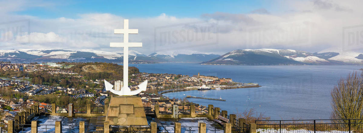Free French Memorial, Lyle Hill, Greenock, River Clyde, Scotland, United Kingdom, Europe Royalty-free stock photo
