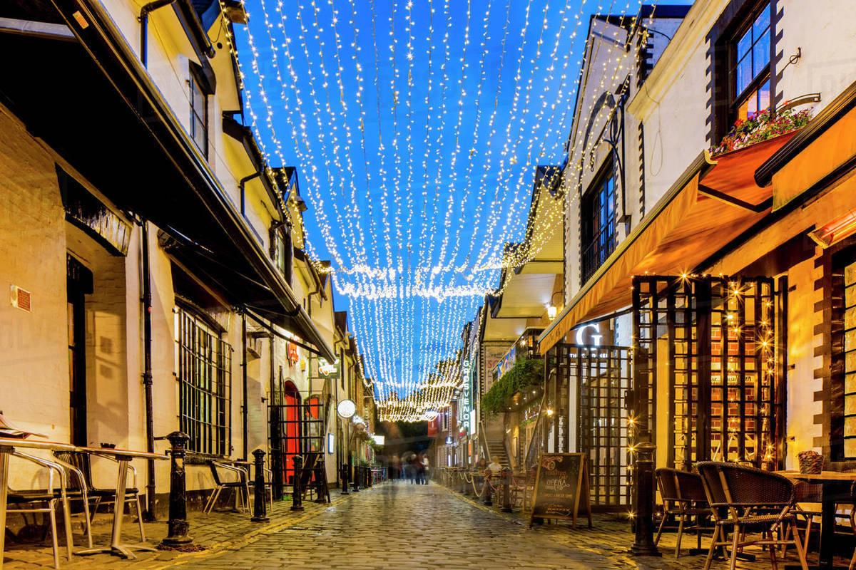 Ashton Lane, West End, Glasgow, Scotland, United Kingdom, Europe Royalty-free stock photo