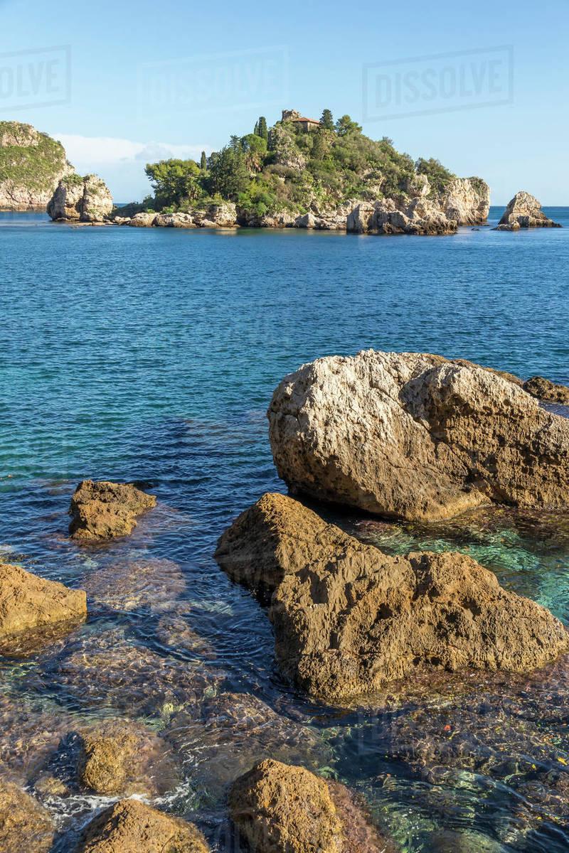 Isola Bella, Taormina, Sicily, Italy, Mediterranean, Europe Royalty-free stock photo