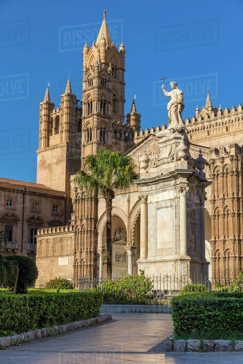 Palermo Cathedral, UNESCO World Heritage Site, Palermo, Sicily, Italy, Europe Royalty-free stock photo