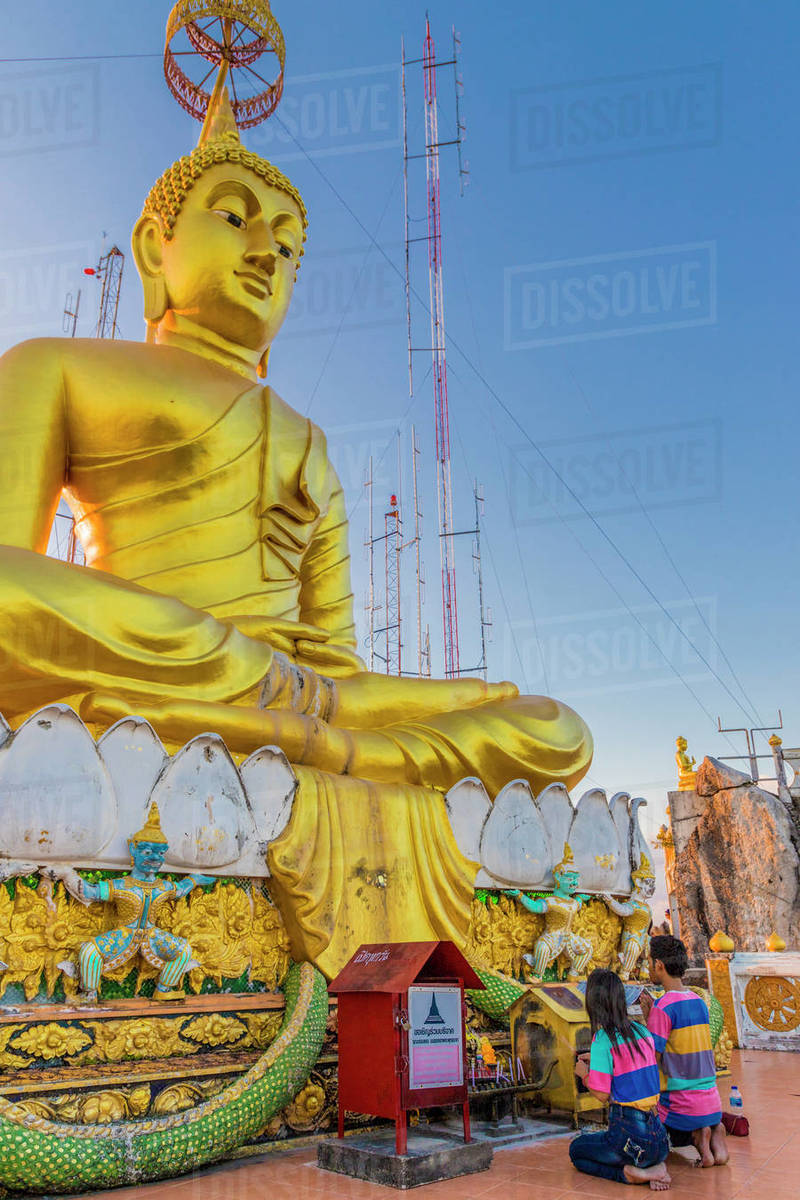 The big Buddha statue at the Tiger Cave Temple in Krabi, Thailand, Southeast Asia, Asia Royalty-free stock photo