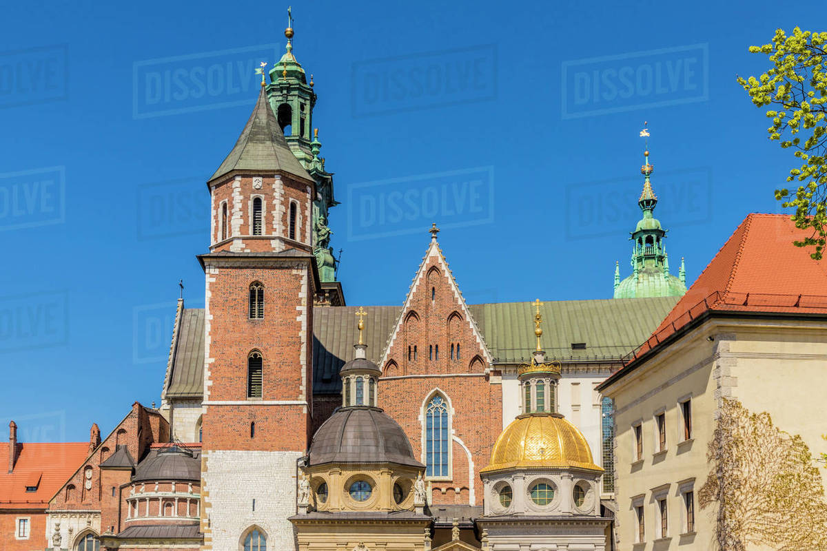 Wawel Cathedral at Wawel Royal Castle, UNESCO World Heritage Site, in the medieval old town, in Krakow, Poland, Europe Rights-managed stock photo