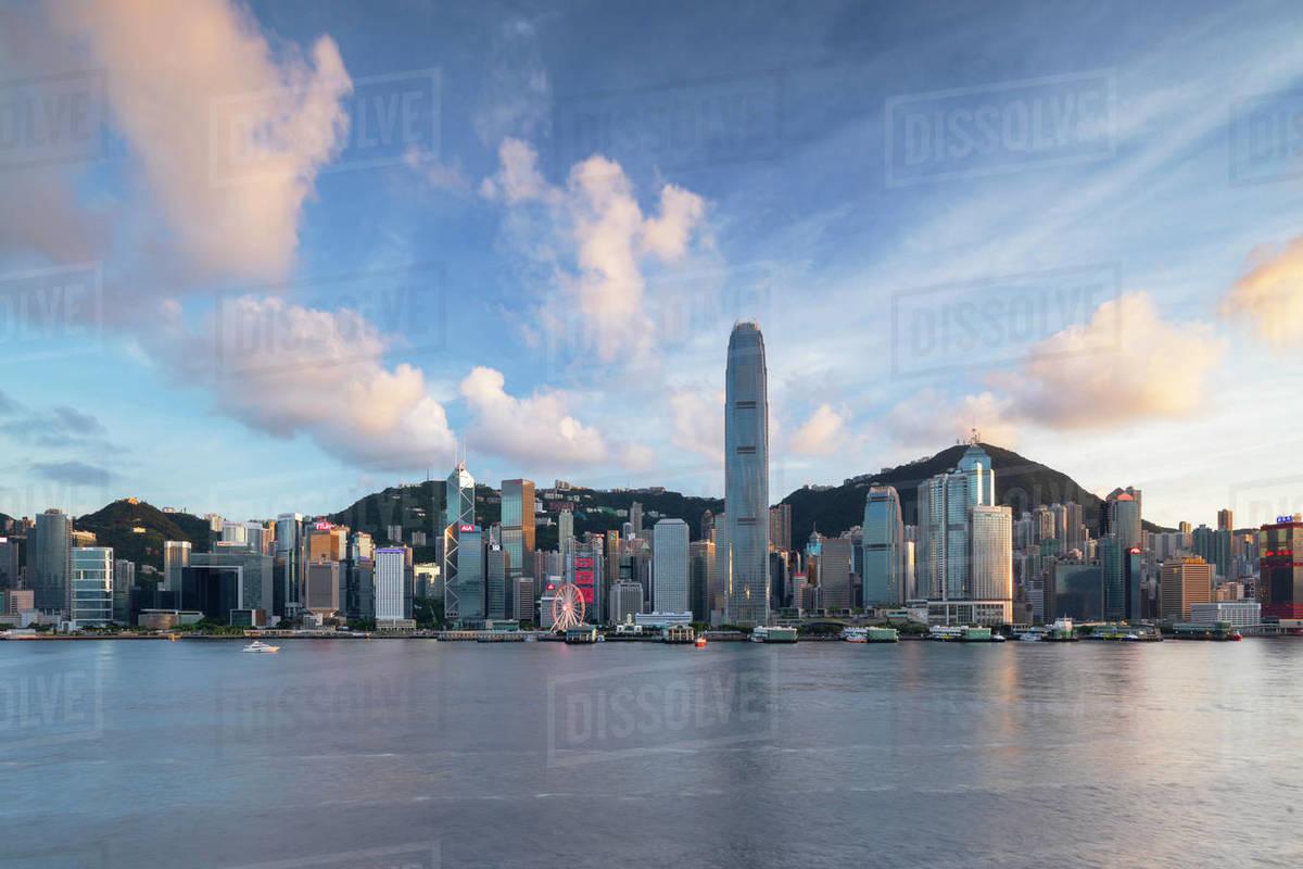 Skyline of Hong Kong Island, Hong Kong, China, Asia Royalty-free stock photo
