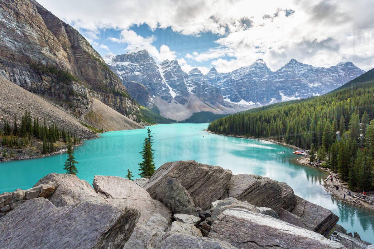 Moraine Lake In The Valley Of Ten Peaks, Banff National