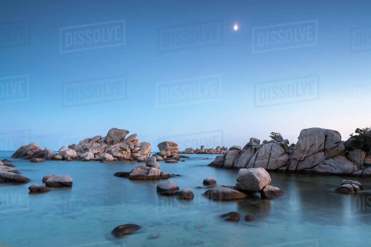 Rockoon Palombaggia Beach Corsica France Mediterranean Europe