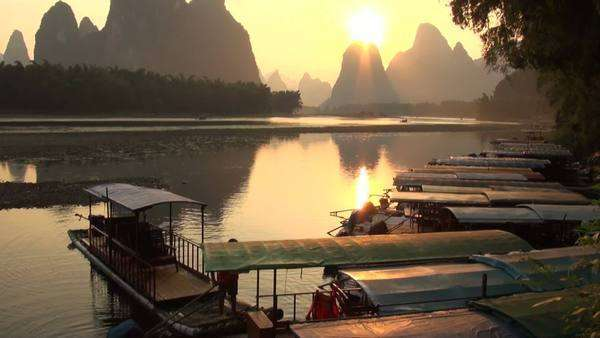Sailing the Li river in China Royalty-free stock video