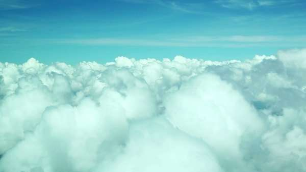 Flying over clouds Royalty-free stock video