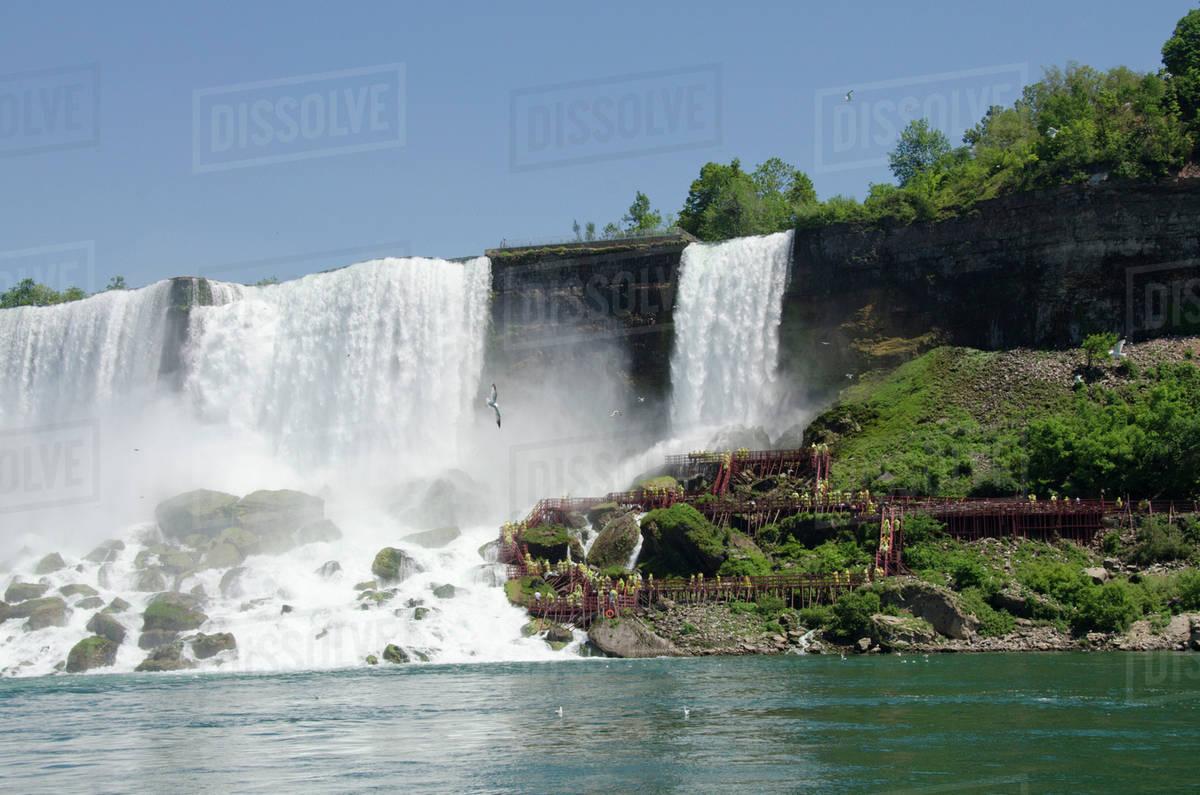 Usa New York And Canada Ontario Niagara Falls Usa Side D256 11 774