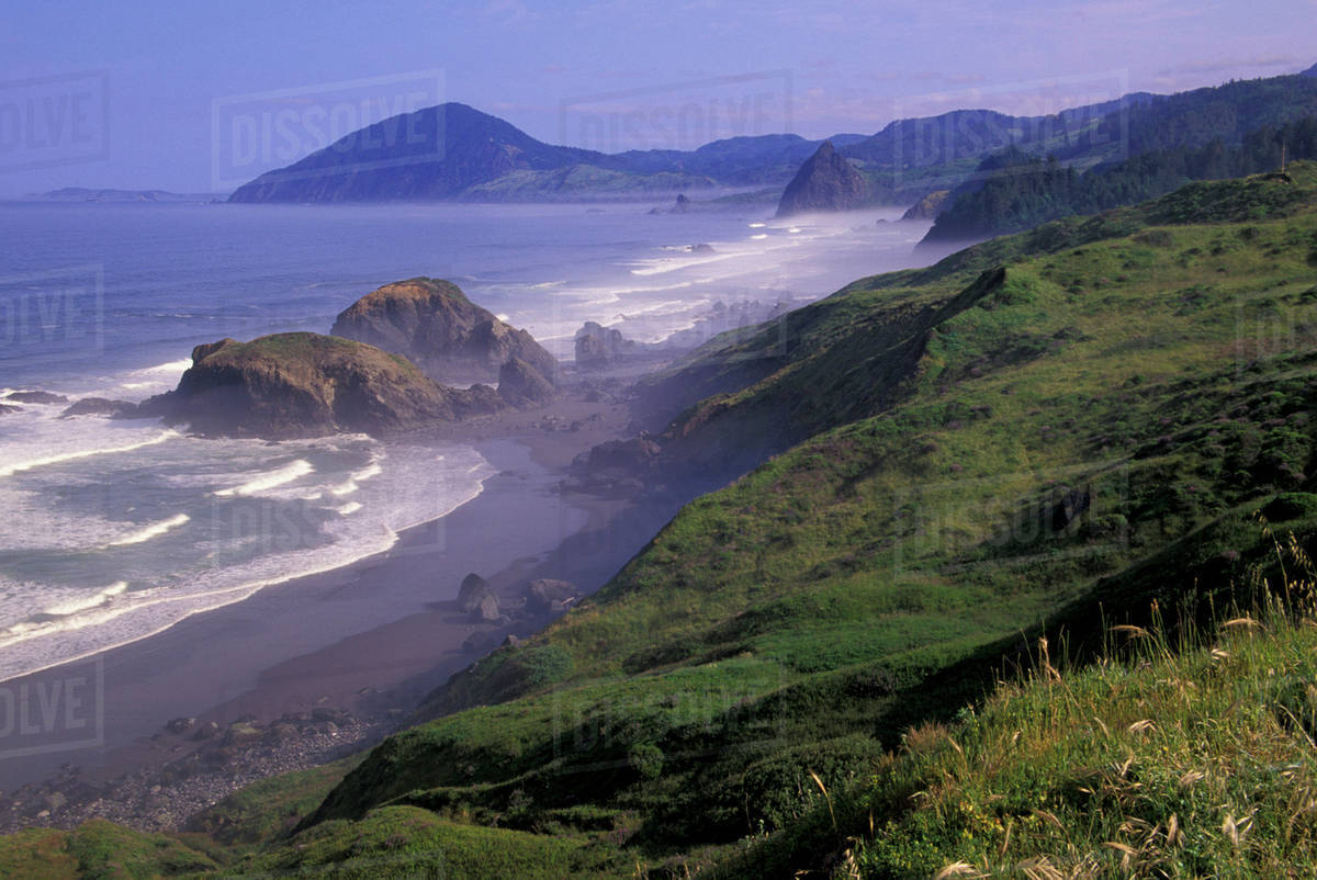 Usa Oregon Nesika Beach Coastline And Seastacks