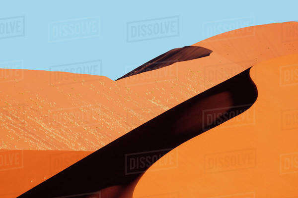 Namibia, Namib-Naukluft Park. Red sand dune abstract. Royalty-free stock photo