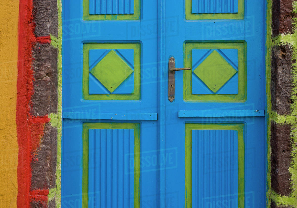 Blue And Lime Green Door Colors