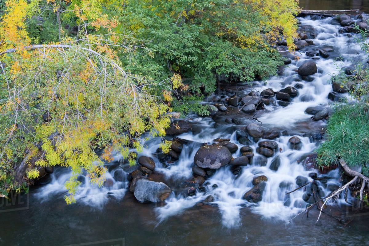 AZ, Arizona, Oak Creek Canyon, Grasshopper Point, Oak Creek and ...