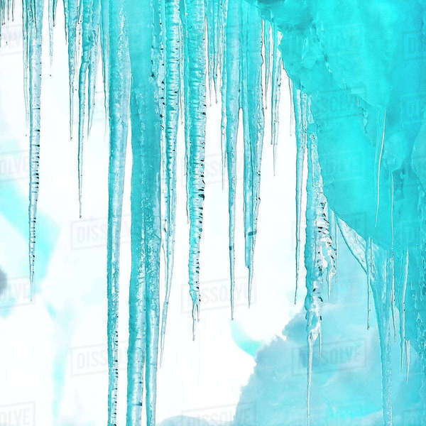 Antarctica. Close-up of an iceberg with icicles. Royalty-free stock photo