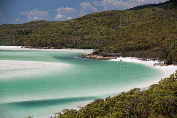 Whitehaven Beach, Hill Inlet, Tounge Point, Whitsunday Island, Whitsunday Islands, Queensland, Australia Royalty-free stock photo
