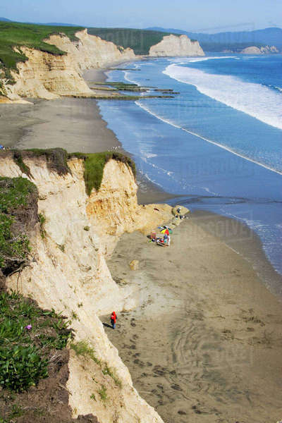 USA, California, Drakes beach at Point Reyes National Seashore. Royalty-free stock photo