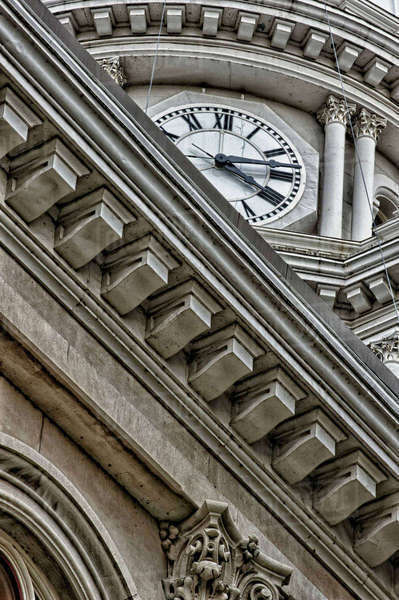 Close-up of building detail: Tippecanoe County Courthouse, Lafayette, Indiana. Royalty-free stock photo