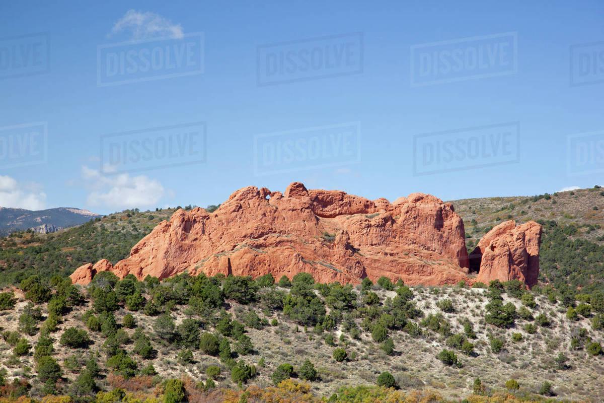 Usa Colorado Colorado Springs Garden Of The Gods North Gateway D256 40 188