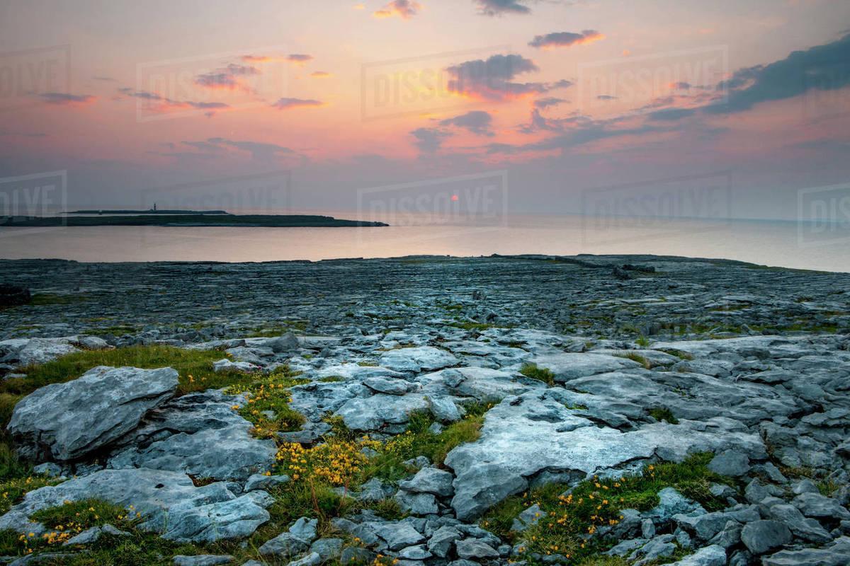 Inishmore Island  Aran Islands  Ireland  Aran Island Lighthouse stock photo