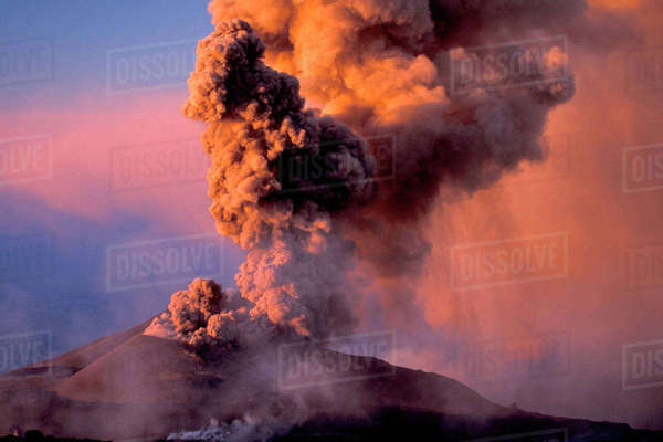EU, Italy, Sicily, Mt. Etna summit vent Rights-managed stock photo