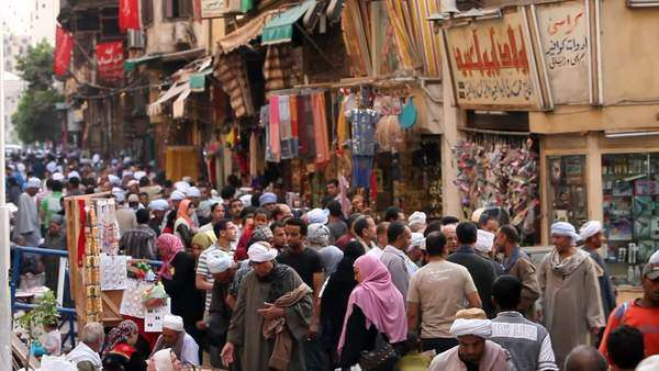 Khan El Khalili Bazaar, famous area dating back to the mid century, Cairo, Egypt, Middle East, Africa Rights-managed stock video