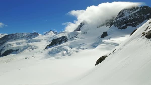 Sphinx Observatory above Jungfraujoch in Swiss Alps - Stock