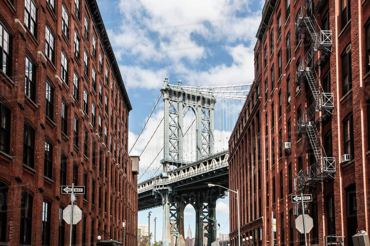 Manhattan Bridge New York Usa Stock Photo Dissolve