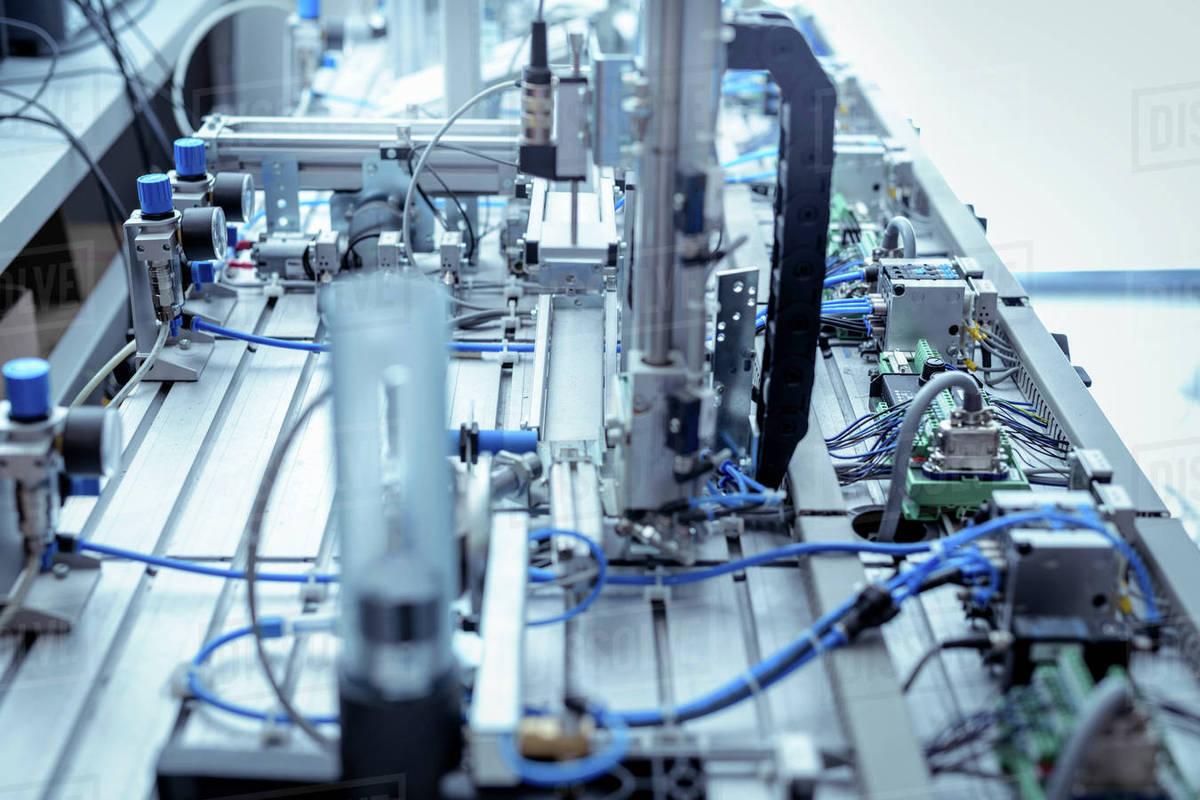 Production Line Simulation Equipment In Robotics Facility Stock