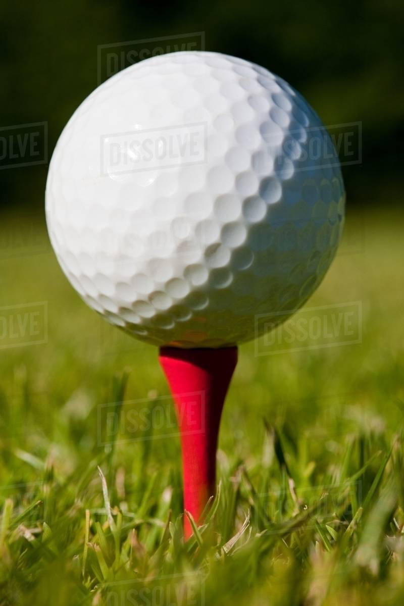 Golf Ball And Tee Close Up Stock Photo Dissolve