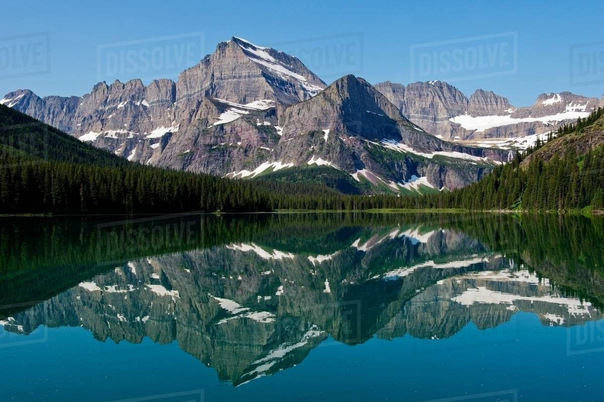 lake josephine mt gould allen mountain and grinnell point