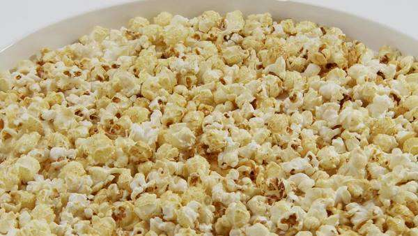 A bowl of popcorn Royalty-free stock video