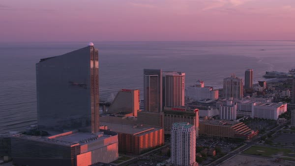 Aerial view of Atlantic City and Jersey Shore.    Royalty-free stock video