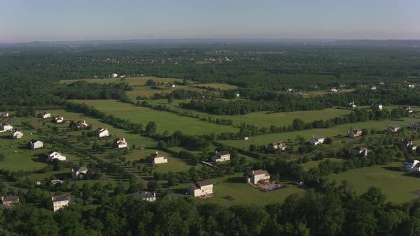 Aerial view of home development in New Jersey.   Royalty-free stock video
