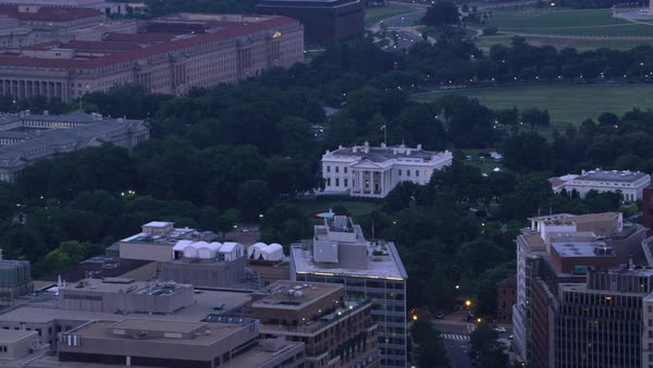 Aerial view of White House in early morning.   Royalty-free stock video