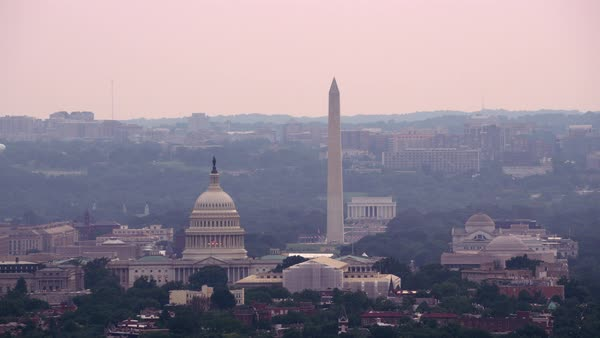 Aerial view of US Capitol Building.   Royalty-free stock video