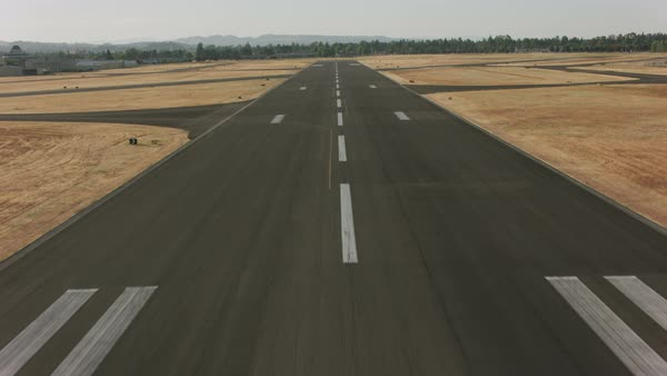 Taking off from airport runway.   Royalty-free stock video