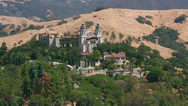 Aerial view of Hearst Castle in California.   Royalty-free stock video