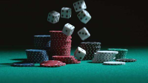 Dice falling in slow motion Royalty-free stock video