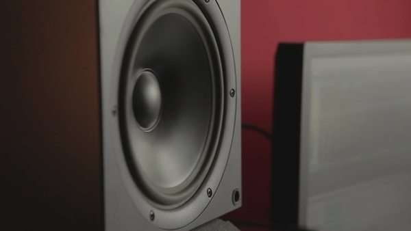 Close-up shot of a loudspeaker Royalty-free stock video