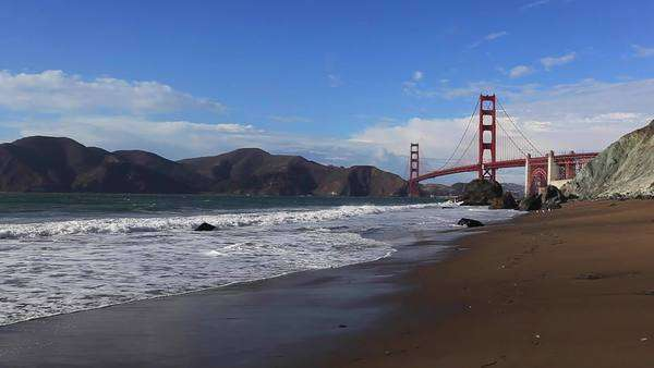 San Francisco and Golden Gate Bridge Royalty-free stock video