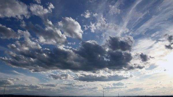 A timelapse of a blue sky full of beautiful cumulus clouds Royalty-free stock video
