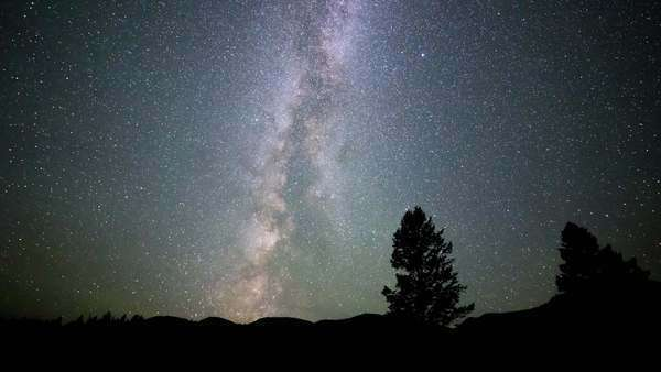 Timelapse of Milky Way moving across a sky in British Columbia Royalty-free stock video